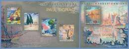 ca14111ab Central African 2014 Painting Impressionism Paul Signac 2 s/s