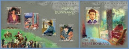 ca14108ab Central African 2014 Painting Impressionism Pierre Bonnard 2 s/s