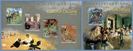 ca14106ab Central African 2014 Painting Impressionism Edgar Degas 2 s/s
