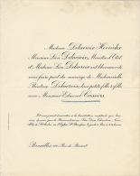 Delacroix Hoorickx Edmond Cassiers - Mariage