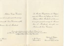 Jean Fils Ministre Albert Moulaert Avec Lucie Goossens - Wedding