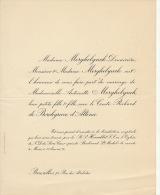 Antoinette Merghelynck Comte Richard De Borchgrave D'altena - Wedding