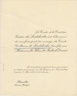 Comte Guillaume De Liedekerke Helene De Fierlant Dormer - Wedding