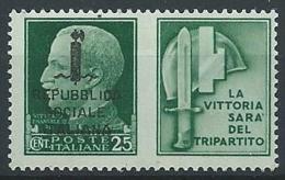 1944 RSI PROPAGANDA DI GUERRA 25 CENT MNH ** - ED829-8 - Propaganda Di Guerra