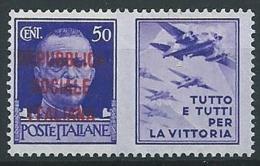 1944 RSI PROPAGANDA DI GUERRA 50 CENT MNH ** - ED830-8 - Propagande De Guerre