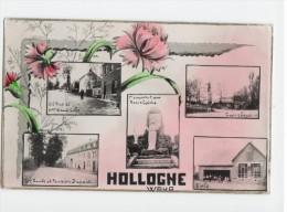 Hollogne - Waha - Lez Liege - Ecole - Carrefour - Grand Route Et Pension Dupont - Gd Rue Et Maison Wautiche ( 1947 ) - Grâce-Hollogne