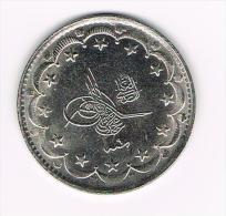 ¨  TURKIJE  20  KURUSH  1327 ( COPY ) - Elongated Coins
