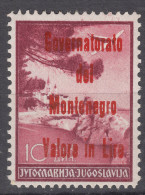 Italy Occupation Of Montenegro 1942 Mi#49 A Sassone#23 Mint Hinged, 500 Issued - Montenegro
