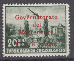 Italy Occupation Of Montenegro 1942 Mi#50 A Sassone#24 Mint Hinged, 500 Issued - Montenegro