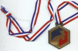 M�daille sportive 1987 2eJeux de l'avenir Paris . anneaux olympiques