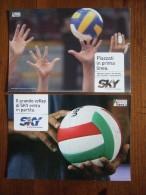 Volley Lot De 2 Cartes Postales - Volleyball