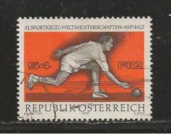 AUSTRIA, 1976, Cancelled Stamp(s), Bowling Sport, MI Nr. 1513, #4119 - 1945-.... 2nd Republic