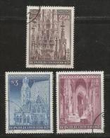 AUSTRIA, 1977, Cancelled Stamp(s), Stephan's Dom, MI Nr. 1544-1546, #4127 - 1945-.... 2nd Republic
