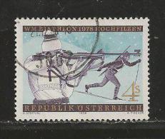 AUSTRIA, 1978, Cancelled Stamp(s), Biathlon, MI Nr. 1568, #4133 - 1945-.... 2nd Republic