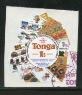 Tonga 1980 10s Rowland Hill Stamp On Stamp Odd Shaped Used # 3969 - Tonga (1970-...)