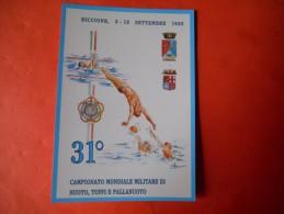 B492 Riccione Campionato Mondiale Di Nuoto Tuffi E Pallanuoto No Viagg. - Italia