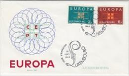 Europa Cept 1963 Luxemburg 2v FDC (F2043) - Europa-CEPT