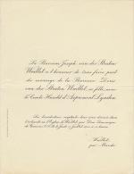 Baronne Doris Van Der Straten Waillet Comte Harold D'aspremont Lynden - Wedding