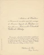 Auguste De Wautier Elisabeth Gilles De Pelichy Chateau De Pair Seny Condroz - Wedding