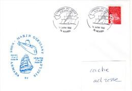SM OUESSANT Armada Du Siècle Obl. Temporaire Rouen 14/07/99 - Poste Navale