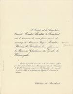 Comte Moretus Plantin De Bouchout Baronne De Vinck De Winnezeele Chateau De Bouchout - Wedding