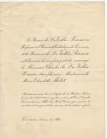 Baron Charles De La Vallée Poussin Marie Mélot - Wedding
