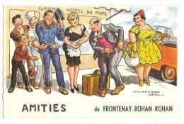 CPA 79 FRONTENAY ROHAN ROHAN -Amitiés  Illustrateur Jean Chaperon - Frontenay-Rohan-Rohan