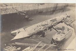 BIZERTE-Sous-Marin FARFADET-CARTE PHOTO-Bassin De Radoub De Sidi-Abdallah Après La Catastrophe 6.7.1905 - Submarinos
