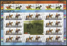Malaysia (2014)  - 2 MS -  /  Horses - Chevaux - Caballos - Pferde - Horses