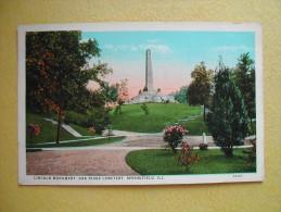 Le Cimetière Oak Ridge. Le Monument Lincoln. - Springfield – Illinois
