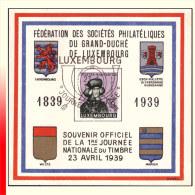 Luxembourg 0306 - Journée Du Timbre 1939 - Storia Postale