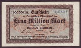 GERMANY - BAYERN - 1 Million Mark 1923 - [11] Emisiones Locales