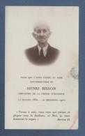 FAIRE PART DE DECES HENRI BISSON CHEVALIER DE LA LEGION D'HONNEUR - Décès