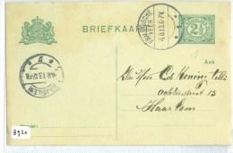 HANDGESCHREVEN BRIEFKAART UIT 1913 VAN KRALINGSE VEER Naar HAARLEM  (8920) - Postal Stationery