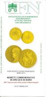 VATICANO - 2014 Bollettino UFN: Monete Oro Del Pontificato Di Papa FRANCESCO Per 450° Morte Michelangelo - Popes