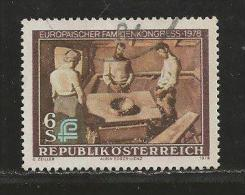 AUSTRIA, 1978, Cancelled Stamp(s), Family Congress, MI Nr. 1587, #4140 - 1945-.... 2nd Republic
