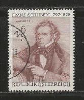 AUSTRIA, 1978, Cancelled Stamp(s), Schubert, MI Nr. 1590, #4142 - 1945-.... 2nd Republic