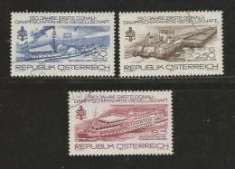 AUSTRIA, 1979, Cancelled Stamp(s), Fisrt Donau Ship, MI Nr. 1601-1603, #4145 - 1945-.... 2nd Republic
