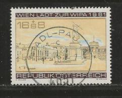 AUSTRIA, 1979, Cancelled Stamp(s), Wipa (1979), MI Nr. 1629, #4150 - 1945-.... 2nd Republic