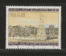 AUSTRIA, 1980, Cancelled Stamp(s), Wipa (1980), MI Nr. 1662, #4151 - 1945-.... 2nd Republic