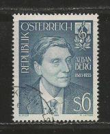 AUSTRIA, 1985, Cancelled Stamp(s), Alban Berg,  MI Nr. 1803, #4159 - 1945-.... 2nd Republic