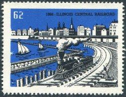 USA Poster Vignette Reklamemarke Cinderella Railway Railroad Eisenbahn Chemin De Fer TRAIN Steam Locomotive - Trains