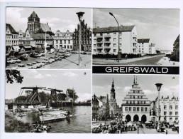 CPM   GREIFSWALD  , Superbe Multivues  ( 4 Vues  ) - Greifswald