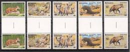 bot7701G Botswana 1977 WWF 5v Gutter rare