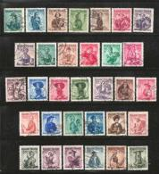 AUSTRIA, Various Years, Cancelled Stamp(s), 32 Stamps Austrian Dresses,  , #4161 - 1945-.... 2nd Republic