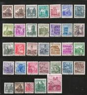 AUSTRIA, Various Years, Cancelled Stamp(s), 33 Stamps Historic Buildings,  , #4162 - 1945-.... 2nd Republic