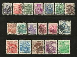 AUSTRIA, Various Years, Cancelled Stamp(s),18 Stamps Austrian People  , #4165 - 1945-.... 2nd Republic