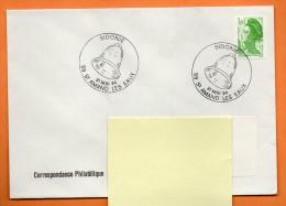 59 ST AMAND LES EAUX     SIDONIE  ( Cloche )  1984  Lettre Entière N° R 792 - Commemorative Postmarks