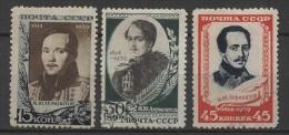 (O) Russia - USSR (1939) Yv. 752/54 - 1923-1991 URSS