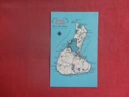 Rhode Island>  Map Block Island  Pin Hole  ref 1513